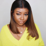 #1B/30 Ombre Short BOB Wigs Lace Front Human Hair For Black Women