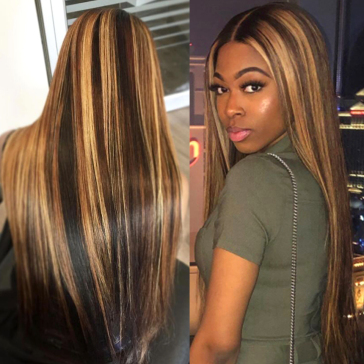 200% Density L3/27 Straight Lace Wigs
