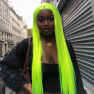 200% Density #Green Color Straight Lace Wigs