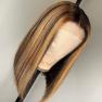 200% Density #L3/27 Colored Short Bob Straight Lace Wigs