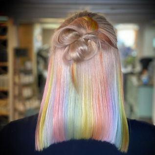 200% Density #rainbow Color BOB Lace Wigs