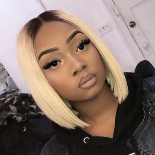 200% Density #1B/613 Color BOB Lace Wigs