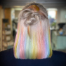 200% Density #rainbow Color BOB Lace Wigs