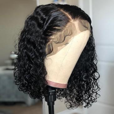200% Density Short Curly Bob Lace Wigs