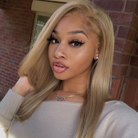 200% Density #28 Color Straight Lace Wigs
