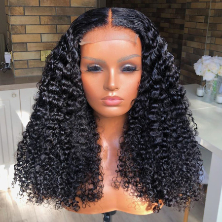400% density DIY WIG Curly Lace Front Human Hair Wig (Finished Wig)