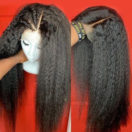 200% Density Kinky Straight Lace Wigs