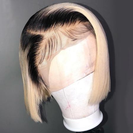 200% Density 14inch #1B/613 BOB 13x6 Lace Wigs