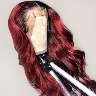 200% Density #1b99j Loose Wave Lace Wigs