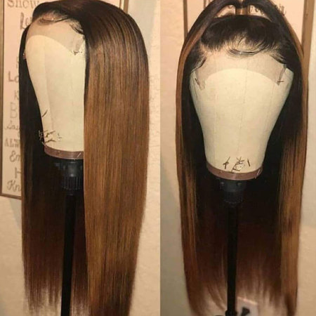 200% Density 1B/30 Straight Lace Wigs