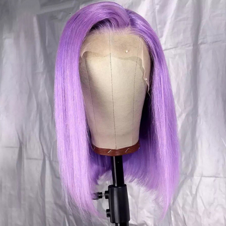 200% Density #Purple Color BOB Lace Wigs