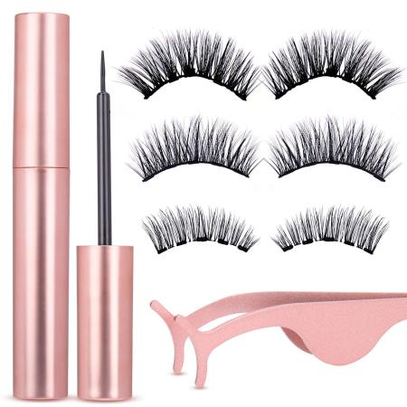 Magnetic Eyeliner and Lashes Kit, With Reusable Lashes [3 Pairs]