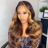 200% Density #1B/27 Color Loose Wave Lace Wigs