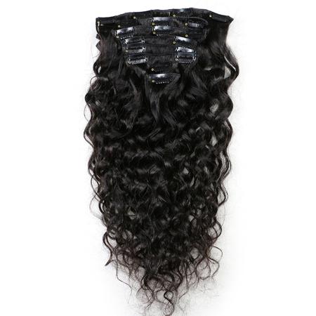 100% Clipin Human Water Wave Hair