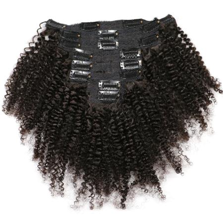 100% Clipin Human Afro Kinky Curly Hair